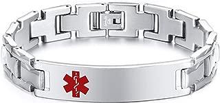 Aokarry 12mm Width Stainless Steel Bangle Bracelet for Mens 20.5cm/8.2''