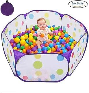 Karida 子供用  ボールハウス ボールプール ボール プレイハウス 子供部屋 おもちゃ 玩具 室内遊具 収納バッグ付き (パープル)
