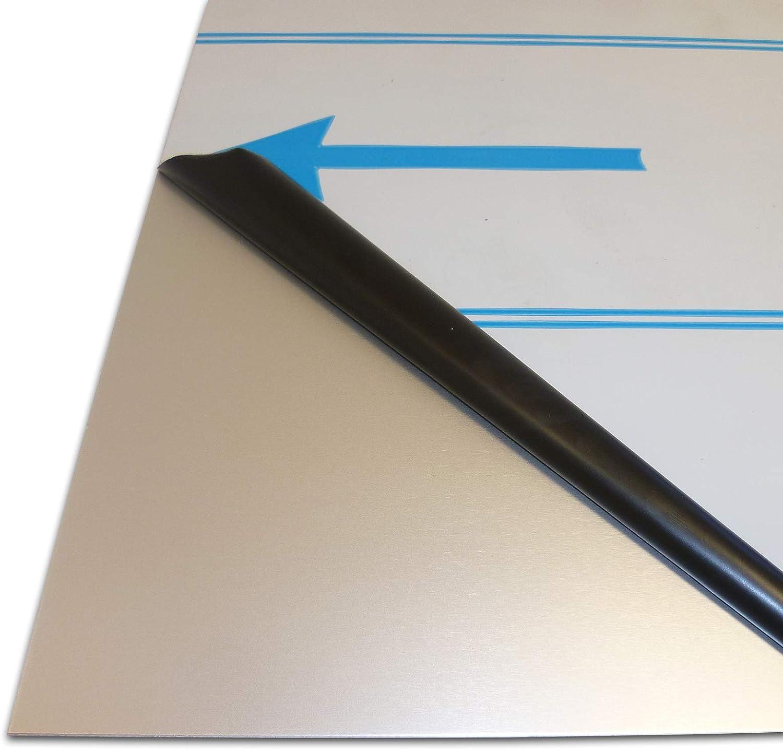 500 x 500 mm 1,0mm stark B/&T Metall Aluminium Blech-Zuschnitt wei/ß lackiert RAL 9016 foliert Gr/ö/ße 50 x 50 cm