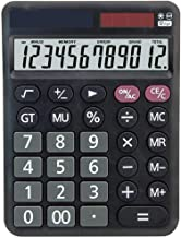 $36 » Calculator Solar Energy Dual Power high tech LCD Display Finance Office Desktop Calculator Accounting only 12 Digits (B)