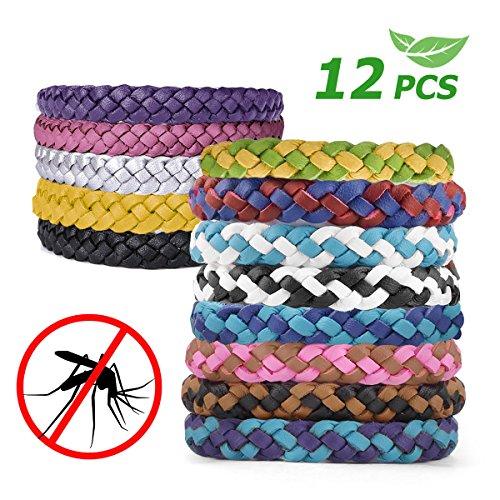 Aodoor Braccialetti Antizanzare, bracciali di cuoio antizanzare Bracciale repellente antizanzare Naturale al 100% Giardino Outdoor Indoor per bambini, adulti, uomini e donne