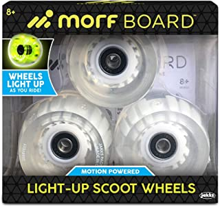 MORFBOARD Light-Up Scooter Wheels, LED Motion Powered Light Up Scoot Wheels for Day or Night Riding