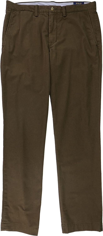 Ralph Lauren Mens Straight Casual Chino Pants, Brown, 34W x 34L