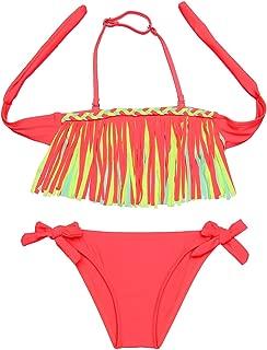 Girls lovely Summer Swimsuit Tassel Bikini Set Bathing Beachwear Swimwear
