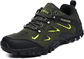 BIGFIRSE Men's Outdoor Sports Hiking Shoes Climbing Summer Spring Fashion Sneakers Athletic Trekking Walking Breathable Soft