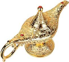 Lâmpadas mágicas de gênio de Aladdin da WEISIPU – Queimadores de incenso vintage Lâmpada de luz gênio mágica para decoraçã...