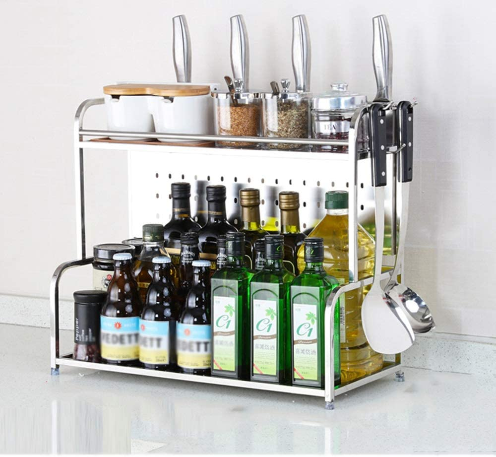 Max 63% OFF HUO Stainless Steel Racks Kitchen trend rank Shelves a and Counters Cabinet