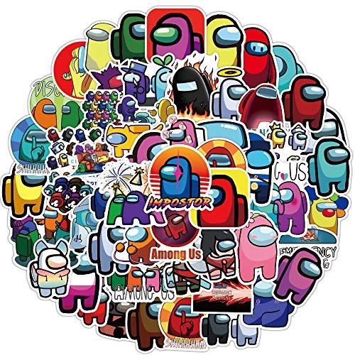 100PCS Among Us Pegatinas de juegos, Juego pegatinas temáticas decoración monopatín refrigerador guitarra portátil motocicleta equipaje de viaje niños dibujos animados pegatinas universales