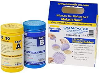 Smooth-On Silicone Mold Making, Liquid Rubber , Easy to Use - Trial Size 2.8 lb