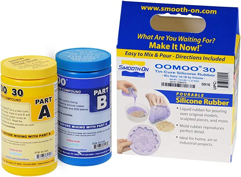 Smooth On Silicone Mold Making Liquid Rubber OOMOO 30 Easy To Use Trial Size 2 8 Lb