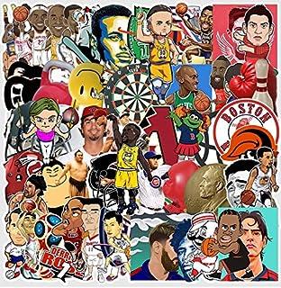 NBA スーパースター バスケットボール 相撲 野球 サッカー テガール シール ステッカー60枚 M