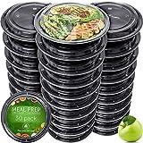 Lunchboxen-Set von Prep Naturals | 30 auslaufsichere Essensbehälter mit Deckel | Brotdosen, Frischhaltedosen u. Aufbewahrungsdosen | Mikrowellen- und Gefrierfachgeeignet, Spülmaschinenfest, BPA-frei