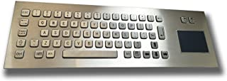 Front / Top Mounting - Standard 65 keys stainless keyboard - with touchpad / trackpad - USB interface - US layout