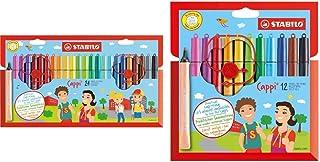 Feutre de coloriage - STABILO Cappi - Étui carton de 24 feutres pointe moyenne + 1 lacet d'attache & Feutre de coloriage -...