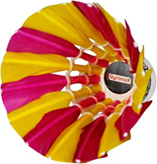 Gyronax multiclr A3 Premium Feather Badminton Shuttlecock (Pack of 10)