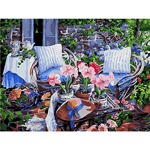 xdai Adult Painting by Numbers Kits For Kids Beginner DIY,Sofa cushion hat Canvas Home Wall Room Decoration Frameless Christmas 40x50cm