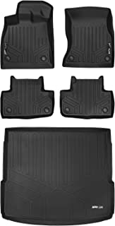 MAXLINER Floor Mats 2 Rows and Cargo Liner Behind 2nd Row Set Black for 2018 Audi Q5 / SQ5