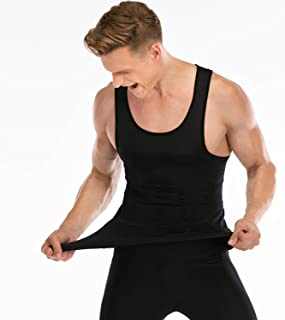 Mens Compression Shirt to Hide Gynecomastia Moobs Slimming Body Shaper Vest