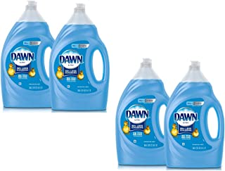 Dawn Ultra Dishwashing Liquid Dish Soap, Original Scent, 2 Count, 56 oz.(Packaging May Vary) (56 Fl Oz, 4 Count)
