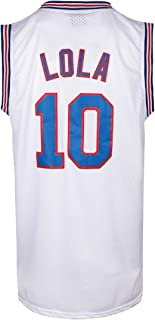 LOLA 10 Bunny Space Basketball Jersey Men's Movie Jersey Stitched Letters and Numbers S-XXXL