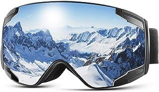 comprar comparacion Extra Mile Gafas de Esquí,Gafas Esqui Snowboard para Hombre Mujer Doble Lente Anti-Niebla 100% UV400 Protección Esférica M...