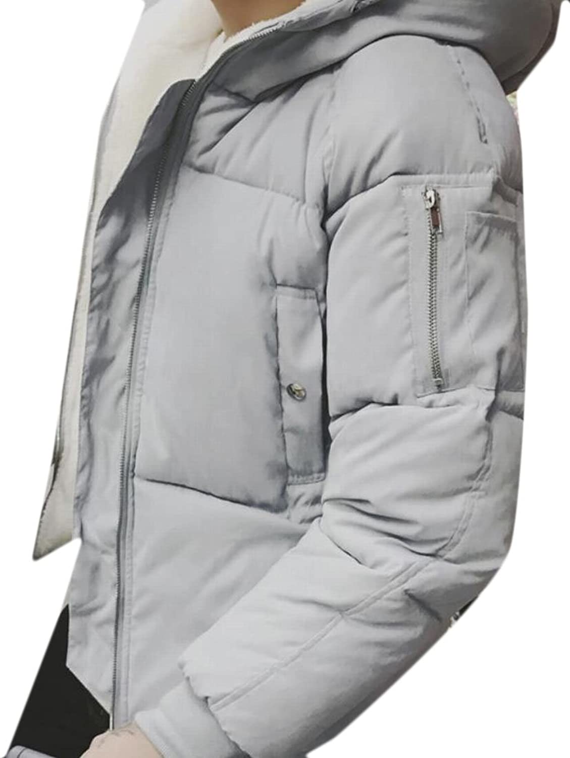 M&S&W Men's Loose Lightweight Packable Hooded Down Jacket Puffer Coat