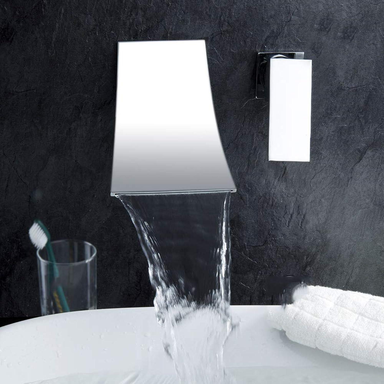 IFELGUD single handle chrome finish waterfall bathroom basin faucet Wall Mounted taps