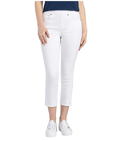 Tribal Pull-On Capris (White) Women