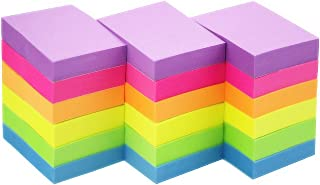 Early Buy Sticky Notes 1.5 x 2 Self-Stick Notes 6 Bright Color 18 Pads, 100 Sheets/Pad (6 Bright)