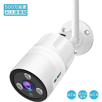 防犯カメラ 屋外 ワイヤレス WiFi 500万画素 AI人体検知 ,GENBOLT 監視カメラ 110°超広角,アクティブ音声威嚇,ONVIF 双方向音声 IP66防水 遠隔監視 暗視撮影 動体検知警報,Eメールで画像を送ります,Micro SDカード録画対応(最大128GB),家の見守り,3個高品質赤外線LED搭載 30mの夜間視界,耐久性のあるケーシング,日本語対応する無料APP,Instagramで人気1000 以上,30日間返金保証,終生技術サポート