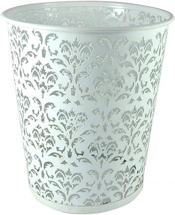 Design Original Rose Bureau//Chambre Hogar y Mas Maison et Plus Poubelle en m/étal recycl/é Ronde