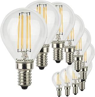 SunSeed 10x Bombilla Esférica Filamento LED E14 5W = 50W Blanco Cálido 2700K