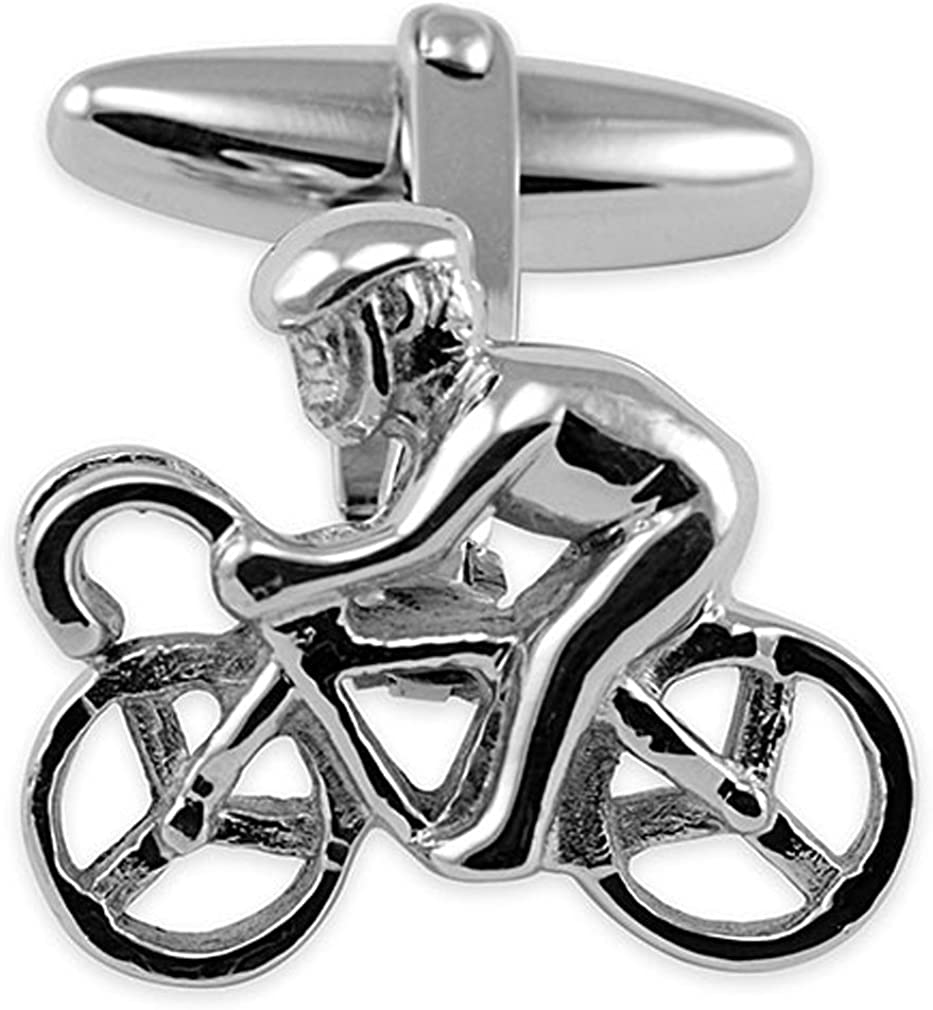 Select Alternative dealer Gifts Sterling Dallas Mall Cufflinks Silver Cycling