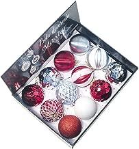 Unionm Christmas Home Decor Ball, 12pcs 8cm Xmas Christmas Tree Decoration Ball Gift Box Christmas Ornaments Light Ball Matt Ball Powder Ball Hollow Ball (J)
