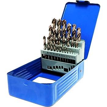Bohrcraft 00801520051 acero, capacidad de 50 piezas color azul Caja de metal vac/ía para brocas helicoidales