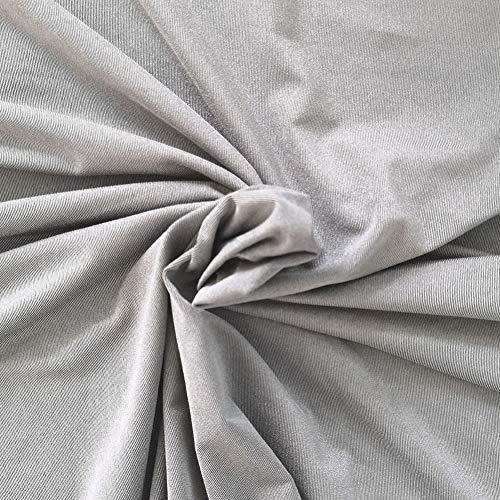 ZXCV 100prozent Silber-Faser dehnbares Gewebe Strahlenschutzmaterial Silber leitendes Gewebe-EMF RFID Blocking Fabric,150cm*100cm