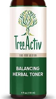 TreeActiv Balancing Herbal Toner | Facial Skin Moisturizer | Witch Hazel | Rose Water | Clary Sage | Tea Tree | Natural As...