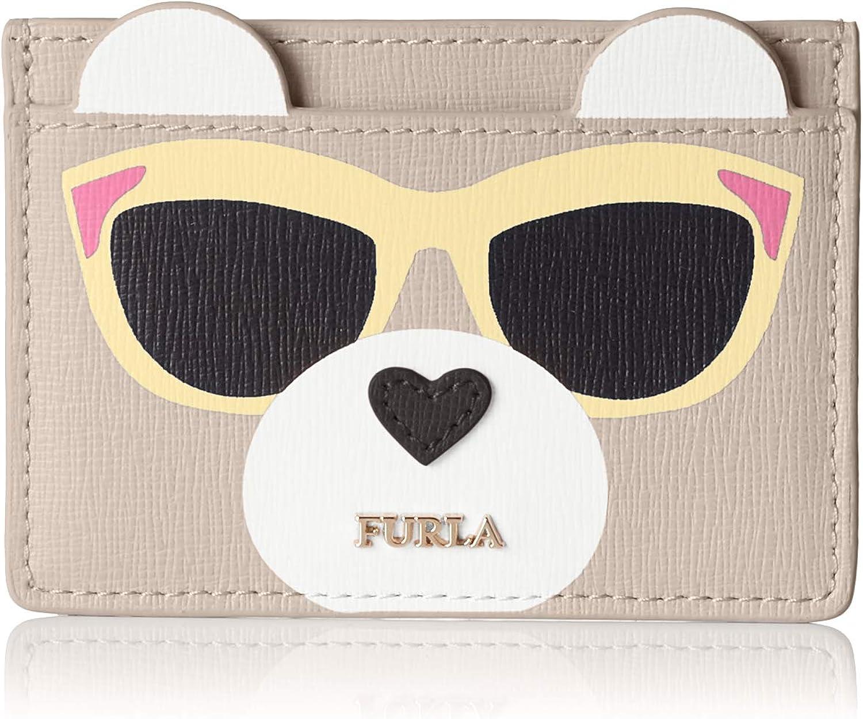 FURLA Women's Allegra S Bear Credit Card Case Credit Card Case