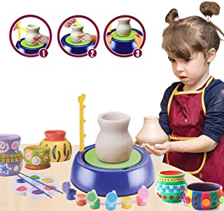 HUAWELL Pottery Wheel, Pottery Studio Kit, Educational Toy, DIY Toy with Clay for Kids, Children Beginners for Fun