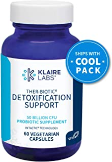 Klaire Labs Ther-Biotic Detoxification Support Probiotic - 50 Billion CFU The Original Hypoallergenic Probiotic for Support During Detox Programs, Dairy-Free (60 Capsules)