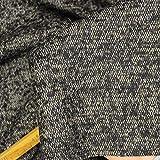 kawenSTOFFE Tweedstoff Wollstoff Braun knitterfrei