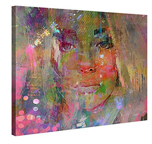 PICANOVA Thoughtful Girl 100x75cm – Premium Leinwanddruck – Kunstdruck Auf 2cm Holz-Keilrahmen Für Schlaf- Und Wohnzimmer Von Joe Ganech Druck Auf Leinwand