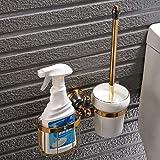 YXDEW Negro Plus Gold Estante de Toalla de Cobre de Toallas de baño Hardware Set Colgante Retro del Estante de América, de múltiples Funciones Escobilla de baño Basket Sola
