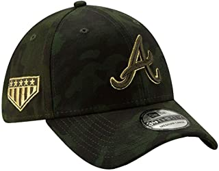 New Era 2019 MLB Atlanta Braves Hat Cap Armed Forces Day 39Thirty 3930 Green/Gold