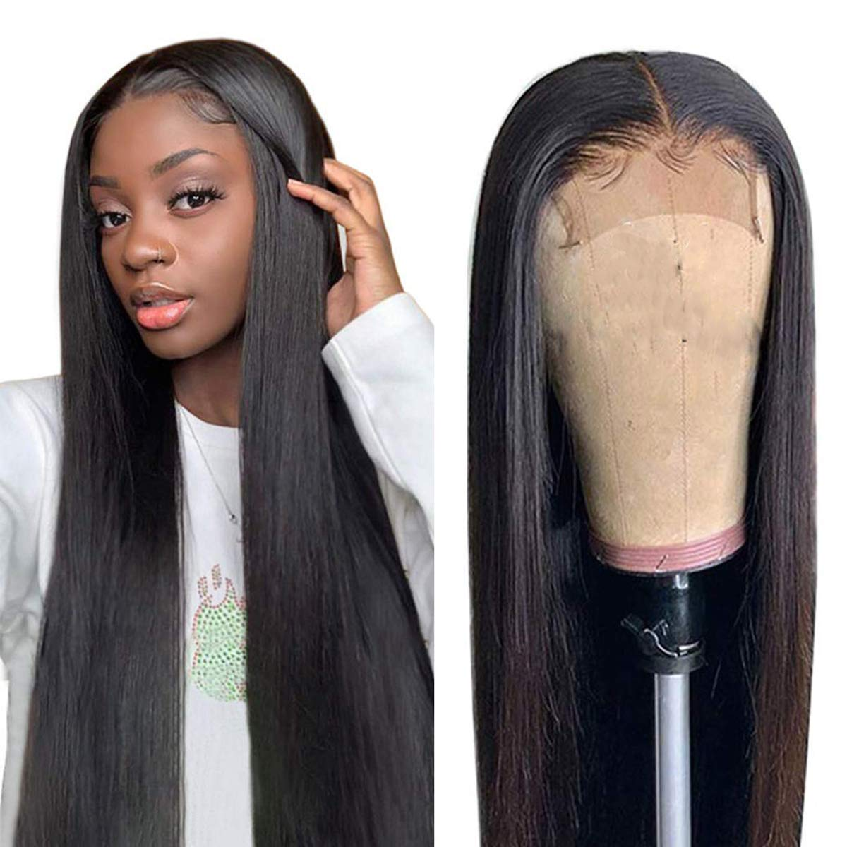 4x4 Lace Front Wigs Low price Straight Hair trend rank Wi Brazilian Human Virgin