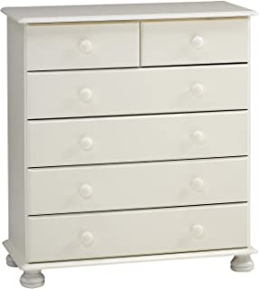 Steens Furniture 3022130050000F/1022130050000N cómoda Richmond 90 x 82 x 38 cm madera de pino maciza blanco