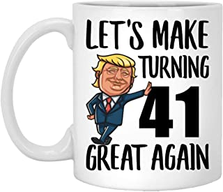 Happy 41st Birthday Gifts for Boys Girls Turning 41 Year Old Born in 1978 Coffee Mug Funny White 11oz