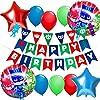 誕生日飾り付け スーパーマンパジャマスクバルーン HAPPY BIRTHDAY バナー スターラウンドアルミバルーン 男の子 子供 ベビーシャワー 半歳 1歳誕生日飾り 幼稚園イベント 部屋装飾