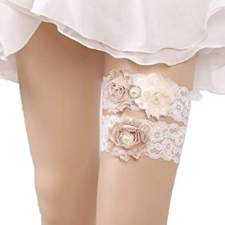 ChicChic Women s Stretchable Lace Bridal Accessory Wedding Garter for Bride  with Toss Away 4589383e80aa