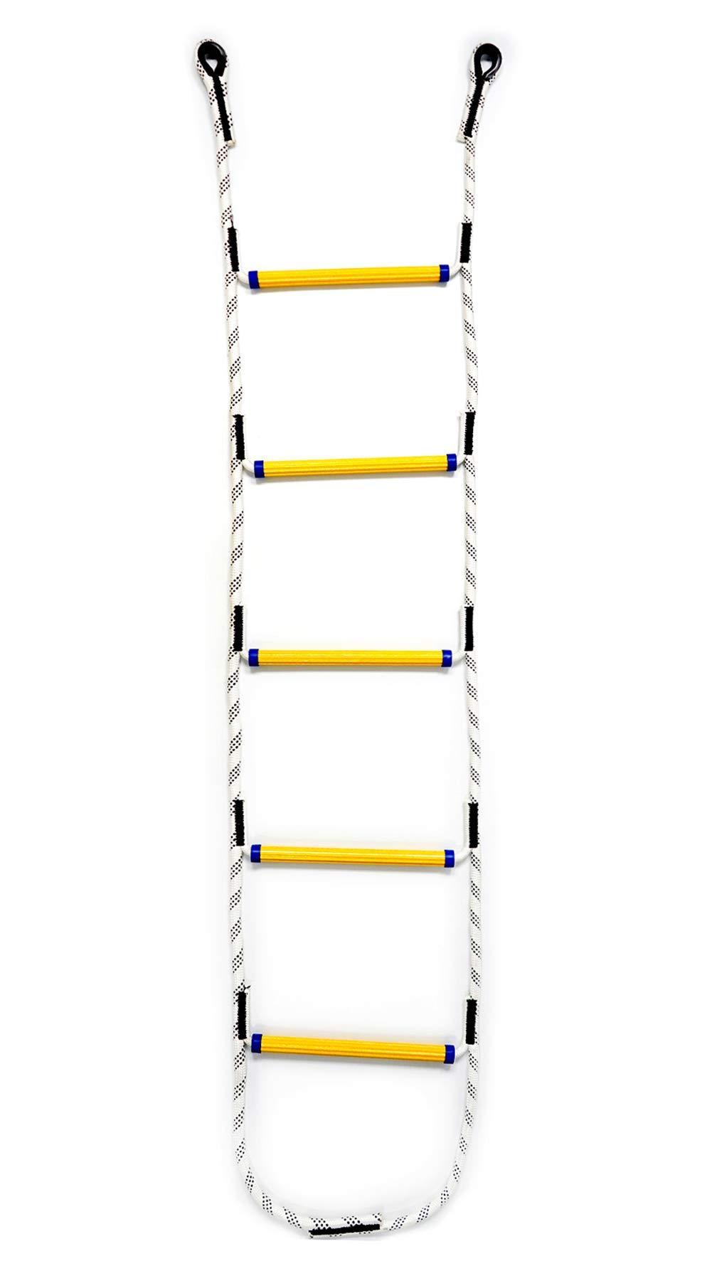 Aoneky Escalera de Cuerda de Escalada para Niños Adultos - Longitud de 1,8M/2,1M/2,4M, Carga de 450kg, Juguete de Escalar para Parque Infantil Jardín, Cuerda de Nylon, Peldaños de Resina (1,8M): Amazon.es: Juguetes